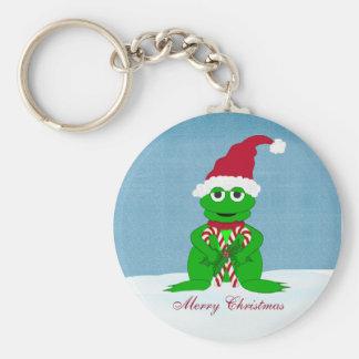Merry Christmas Frog Keychain