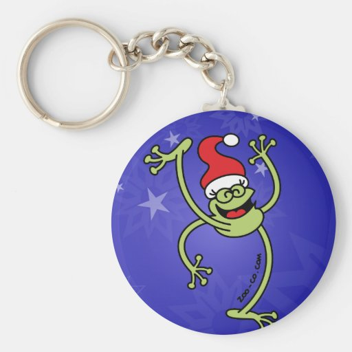 Merry Christmas Frog Keychains