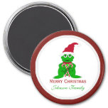 Merry Christmas Frog Magnet