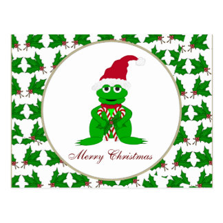 Merry Christmas Frog Postcard