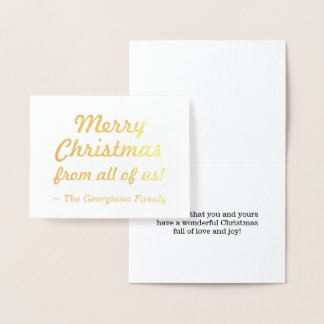 """""""Merry Christmas from all of us!"""" Card"""