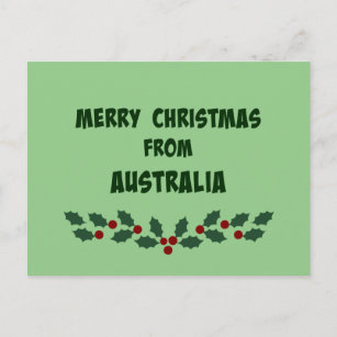 Merry from australia christmas cards zazzle merry christmas from australia holiday postcard m4hsunfo