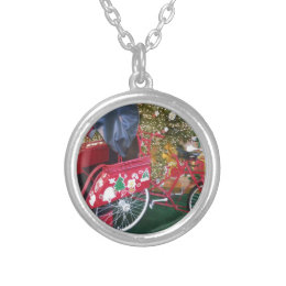 Merry Christmas from Bali Indonesia Silver Plated Necklace