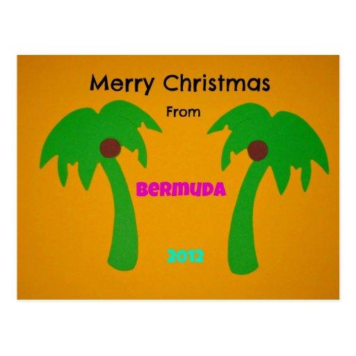 Merry Christmas from Bermuda 2012 Postcard