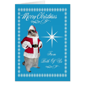 Merry Christmas From Both Of Us Greeting Card