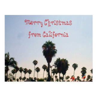 MERRY CHRISTMAS FROM CALIFORNIA postcard