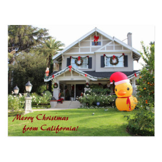 Merry Christmas From California Postcard! Postcard