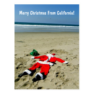 Merry Christmas From California Postcard! Postcard