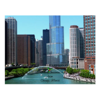Merry Christmas from Chicago Illinois Post Card