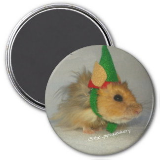 Merry Christmas from Chuck the Elf 3 Inch Round Magnet