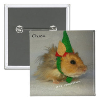 Merry Christmas from Chuck the Elf Pinback Button