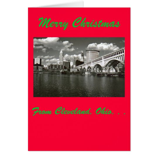 Merry Christmas from Cleveland, Ohio Card