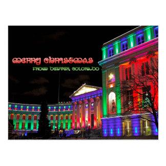 Merry Christmas from Denver, Colorado Postcard