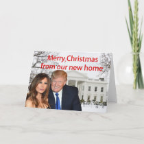 Merry Christmas from Donald and Melania Holiday Card