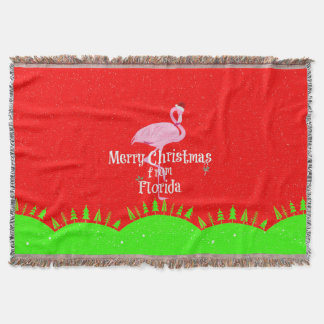 Merry Christmas from Florida Throw Blanket