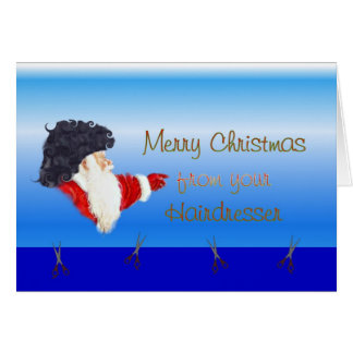 Merry Christmas from hairdresser hairstylist Card