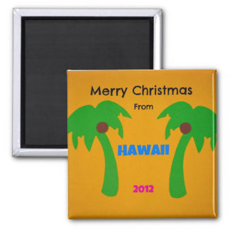 Merry Christmas from Hawaii 2012 2 Inch Square Magnet