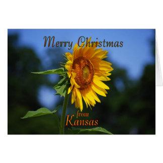 Merry Christmas from Kansas Greeting Card