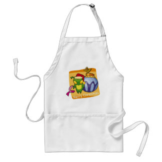 Merry Christmas from Little Bug Adult Apron