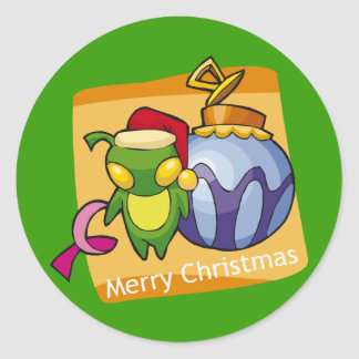 Merry Christmas from Little Bug Classic Round Sticker