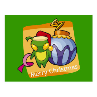 Merry Christmas from Little Bug Postcard
