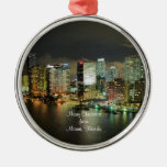 Merry Christmas from Miami, Florida Ornament