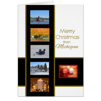 Merry Christmas from Michigan Card