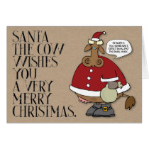 """""""Merry Christmas"""" from Moo-Anne Funny Christmas Card"""