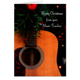 Merry Christmas from Music Teacher Joyful Song Card