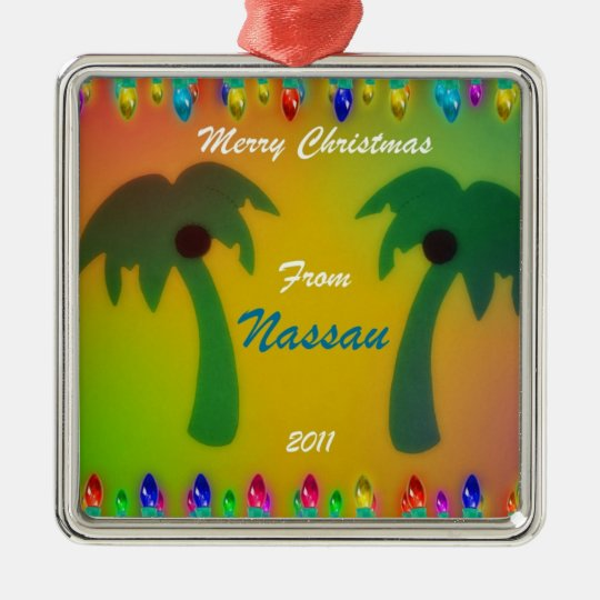 Merry Christmas from Nassau  2011 Metal Ornament