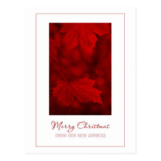 Merry Christmas From New Address Postcard