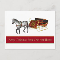 Merry Christmas from New Home  postcard