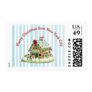 Merry Christmas from New York City stamp