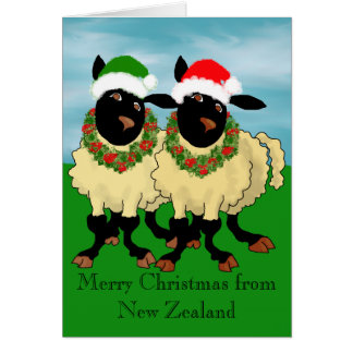 Merry Christmas from New Zealand Greeting Card