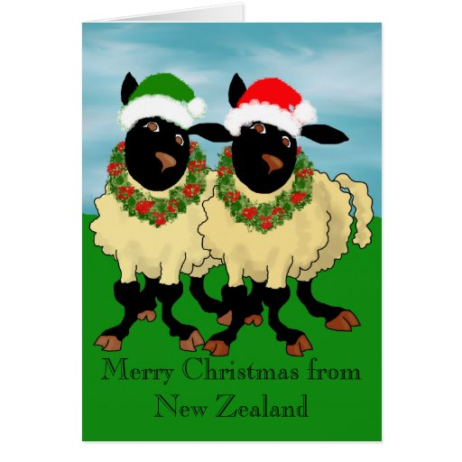 Merry Christmas From New Zealand Greeting Cards Zazzle