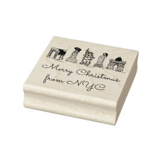 Merry Christmas from NYC New York City Xmas Stamp