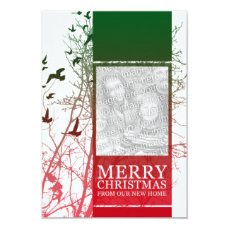 merry christmas from our new home (silhouscreen) card