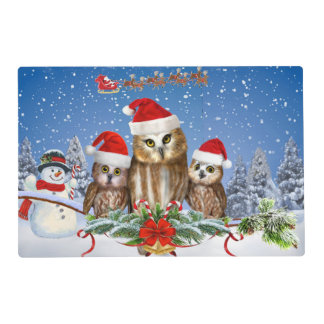 MERRY CHRISTMAS FROM OWL OF US! PLACEMAT