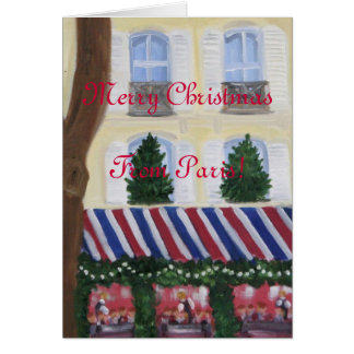 Merry Christmas from Paris Card