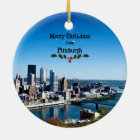 Merry Christmas from Pittsburgh Ceramic Ornament