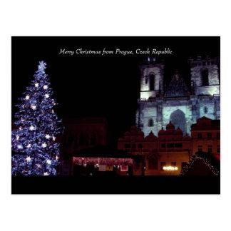 Merry Christmas from Prague, Czech Republic Postcard