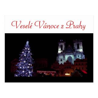 Merry Christmas from Prague Postcard