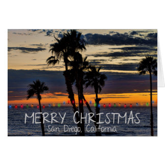 Merry Christmas from San Diego, California Cards