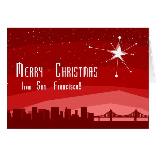 Merry Christmas From San Francsico Card