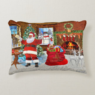 Merry Christmas from Santa Accent Pillow