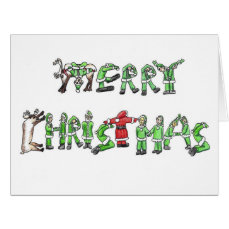 Merry Christmas From Santa and His Helpers Card