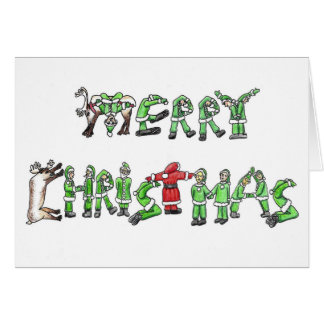 Merry Christmas From Santa and His Helpers. Stationery Note Card