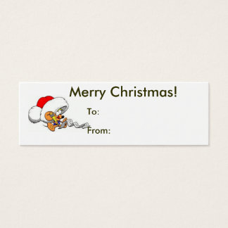 Merry Christmas From Santa Mouse Tag