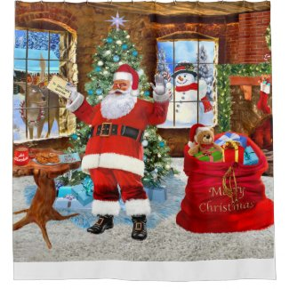 Christmas Santa Shower Curtain
