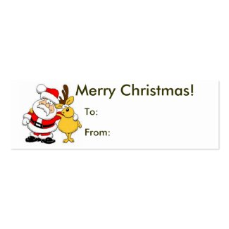 Merry Christmas From Santa Tag profilecard